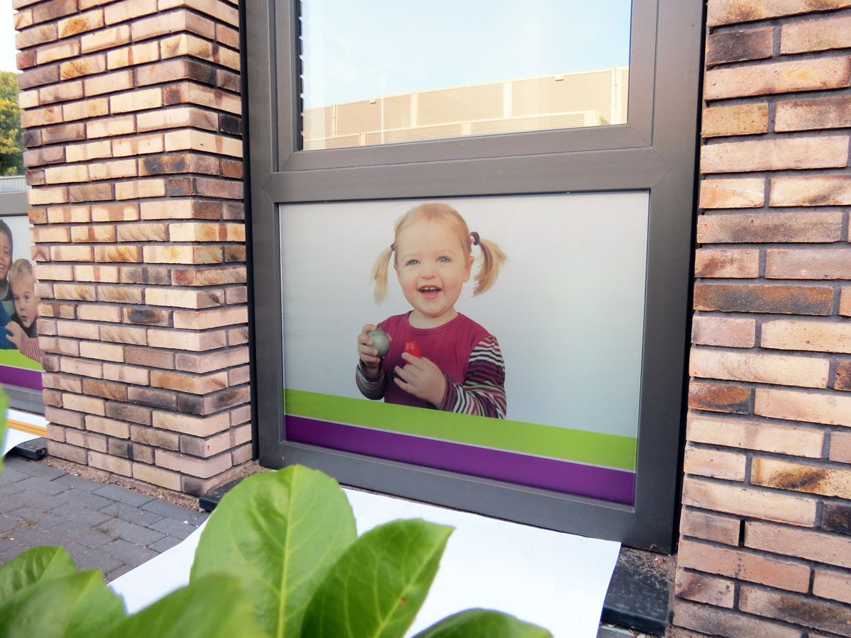 Glasfolie bedrukt (2) met foto, huiskleuren