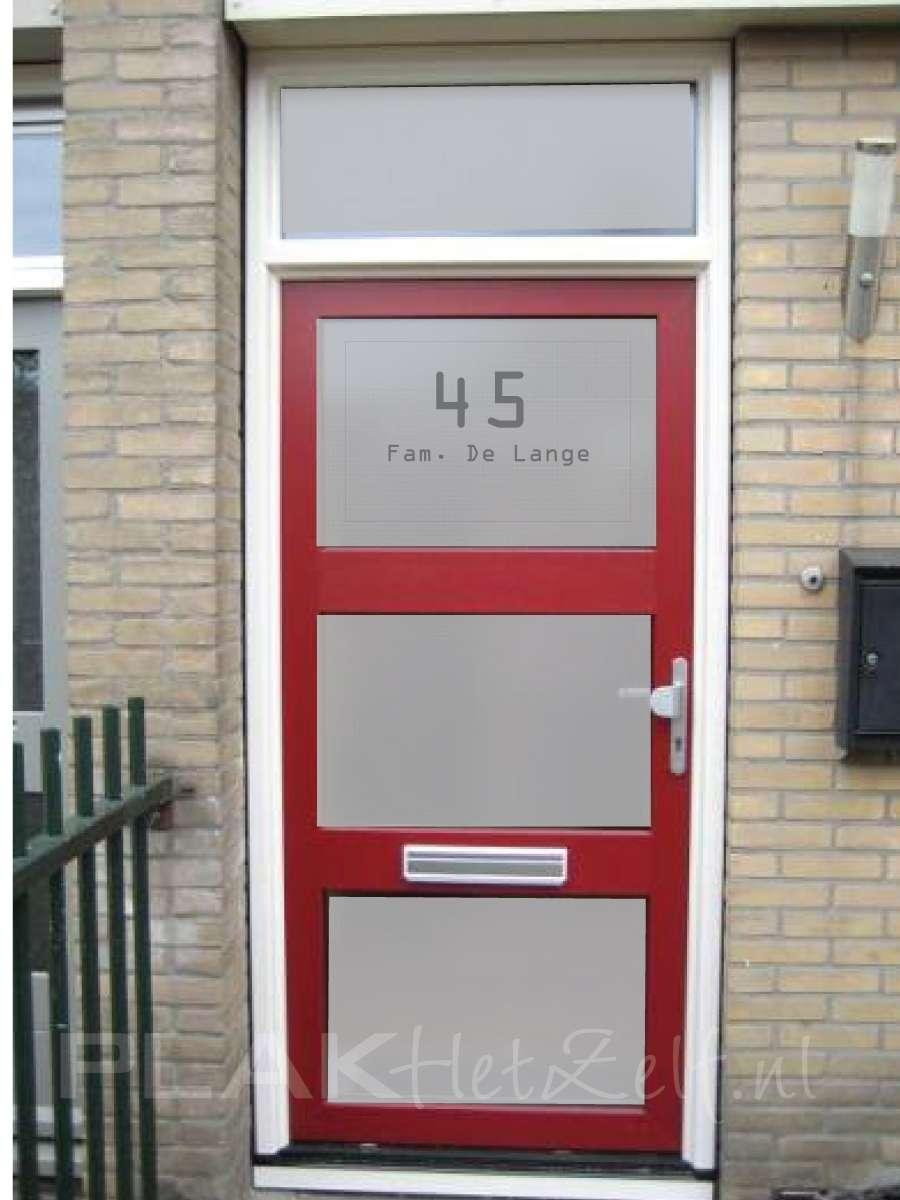 Raamfolie voordeur, zelf ontwerpen en aanbrengen