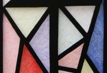 glas-in-lood, raamfolie