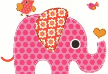 raamsticker, verjaardag, olifant
