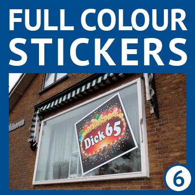Sticker, raamstickers