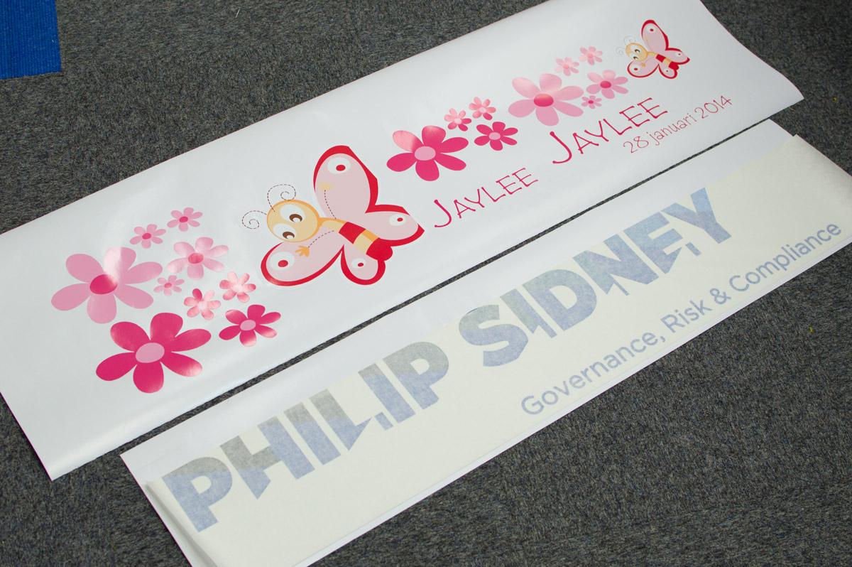 geboorte stickers, gesneden stickers