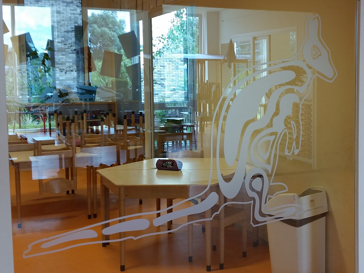 Glasfolie gesneden (1) op maat, eigen ontwerp